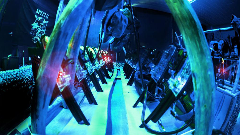 Laserpelikeskus GameCenter Kuopio aseet