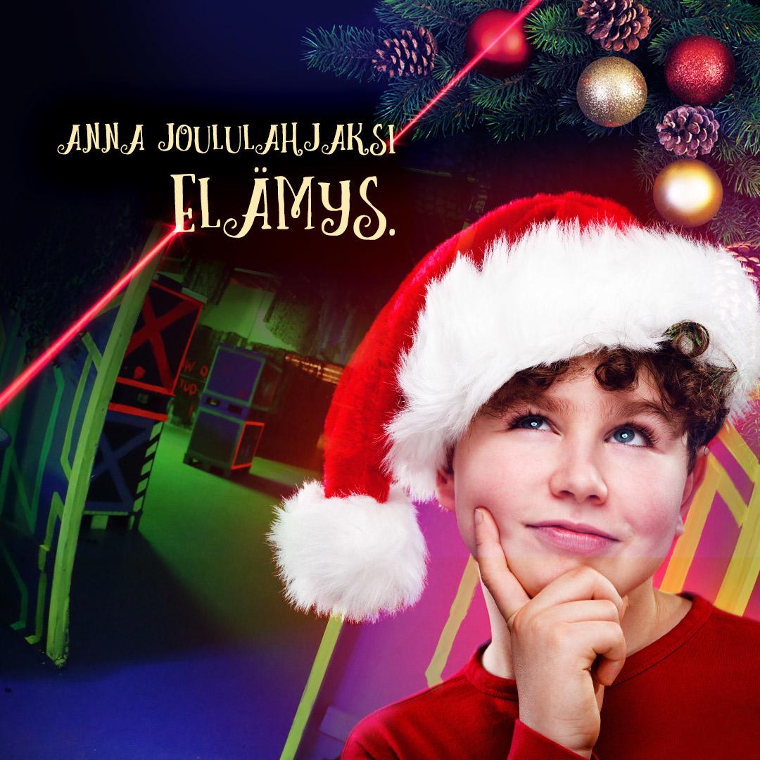 Laserpelikeskus joululahja sarjakortti