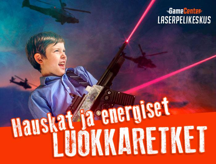 Luokkaretket Laserpelikeskus Kuopio