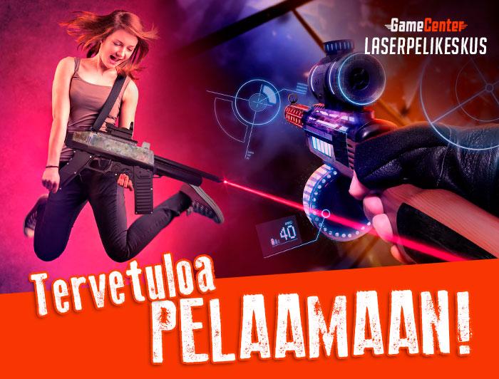 Pelaamaan laserpelikeskukseen