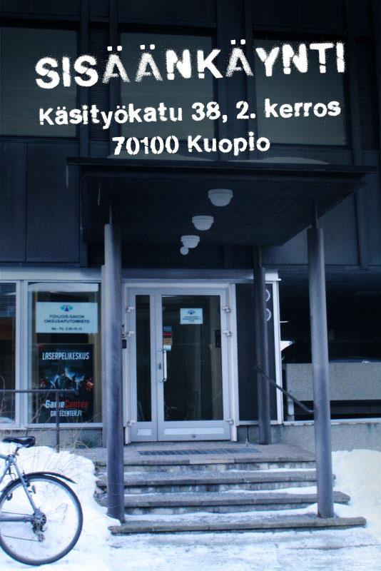 Laserpelikeskus Kuopion keskusta sisäänkäynti