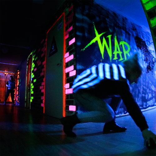 Laserpelikeskus kaupunkisota-areena joukkueet